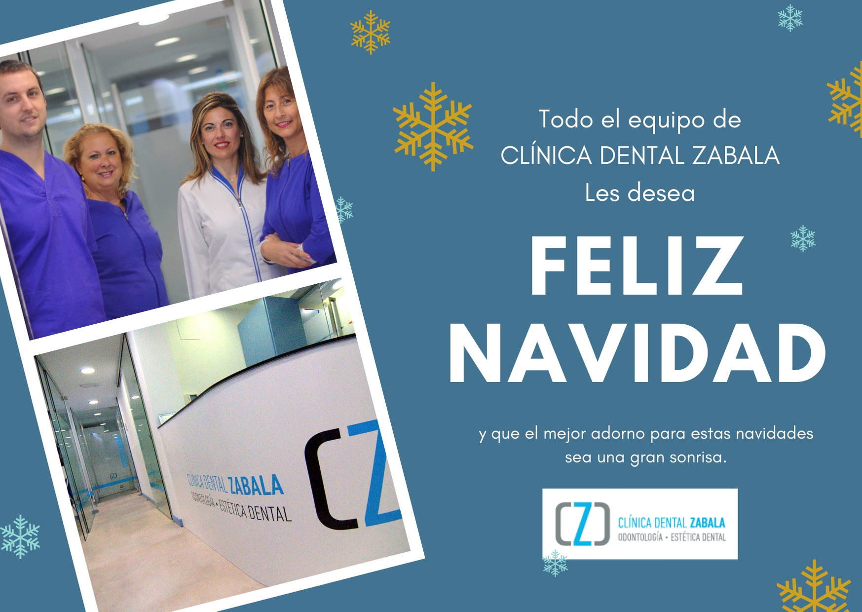 Felicitación Clinica Dental zabala